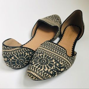RESTRICTED Aztec Print D'Orsay Ballet Flats